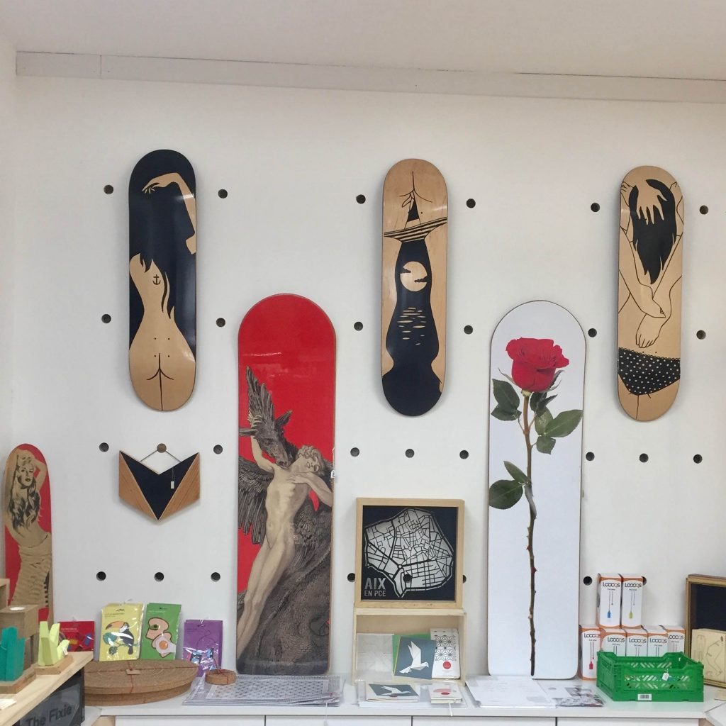 Petites Luxures Skateboards art